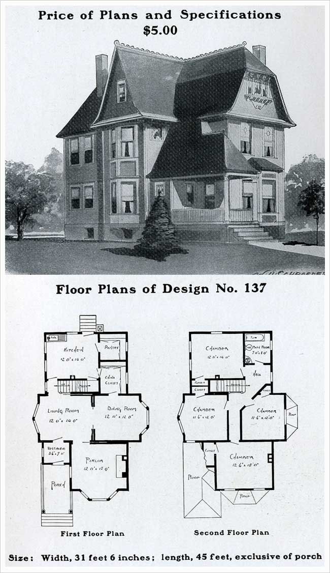 Vintage house plans 1900s a collection of other ideas to for Queen anne floor plans