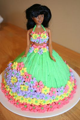 Aly's Cake Blog: HULA GIRL DOLL CAKE!! (made by Aly)                                                                                                                                                     More