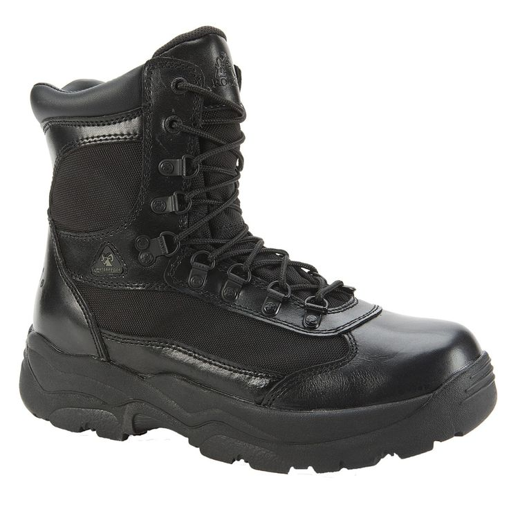 Rocky Mens Black Leather 1,000 Denier Fort Hood Waterproof Duty Boots