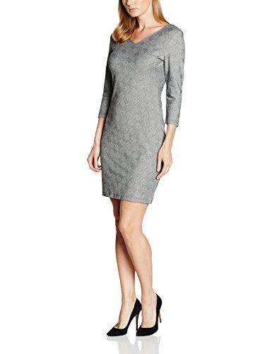 dfd5a421f8dfd SAINT TROPEZ Damen Kleid P6509 Grau (Grau 1) 38 (Herstellergröße  M ...
