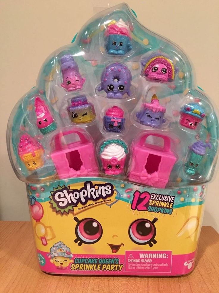 Shopkins Cupcake Queen's Sprinkle Party New 12 Exclusive Sprinkle Shopkins #Moose