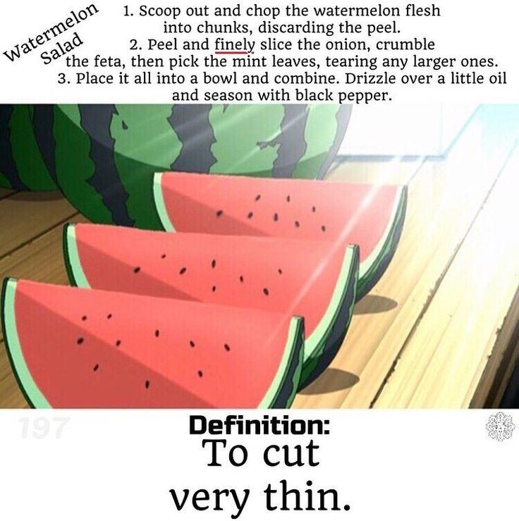 #レシピ #英語 #レシピ英語 #アニメ #食べ物 #料理 #サラダ #おいしい  #クッキングラムー  #recipe #english #recipeenglish #recipeoftheday #salad  #cooking #watermelon #anime