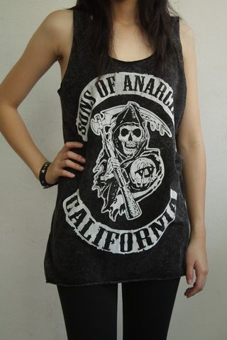 womens sons of anarchy tank top | Sons Anarchy California Bleach Women Tank Top Vest - Fashion Tops