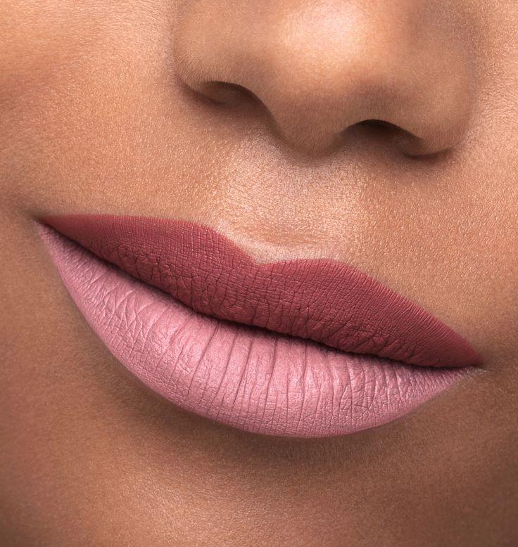 © Kriss Logan, photo close up bouche, double gloss mat rose, double pink lipstick