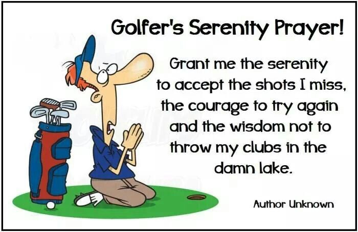 The Golfer's Serenity Prayer  I Rock Bottom Golf #rockbottomgolf