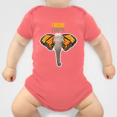 BUTTERFLY ELEPHANT Onesie by VINSPIRO - $20.00
