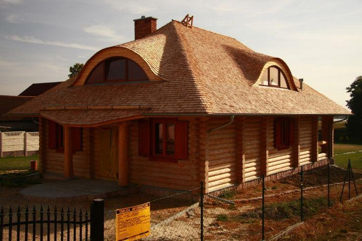 Dom z bali cylindrowanych w Niedźwiedziu - Organica.net.pl Organica.net.pl