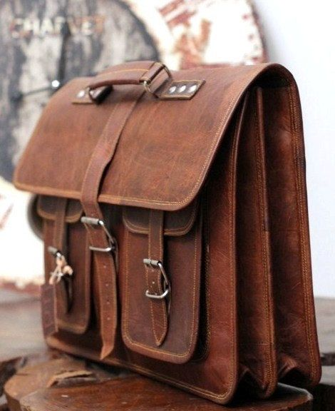 Dual laptop leather messenger bag leather by theleatherworld