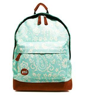 Mi Pac Vintage Floral Print Backpack