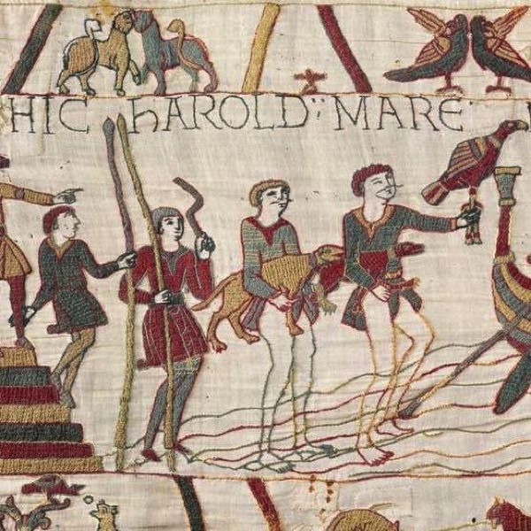 The Making Of The Bayeux Tapestry Who Made It How Long Did It Take And How Has It Survived Bbc History Magazine Bayeaux Tapestry Medieval Tapestry Bayeux Tapestry