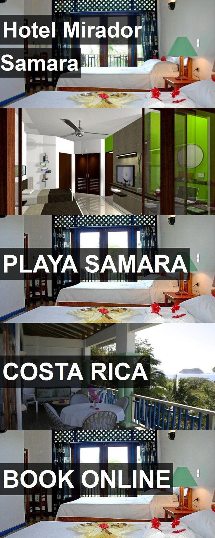 Hotel Mirador Samara in Playa Samara, Costa Rica. For more information, photos, reviews and best prices please follow the link. #CostaRica #PlayaSamara #travel #vacation #hotel