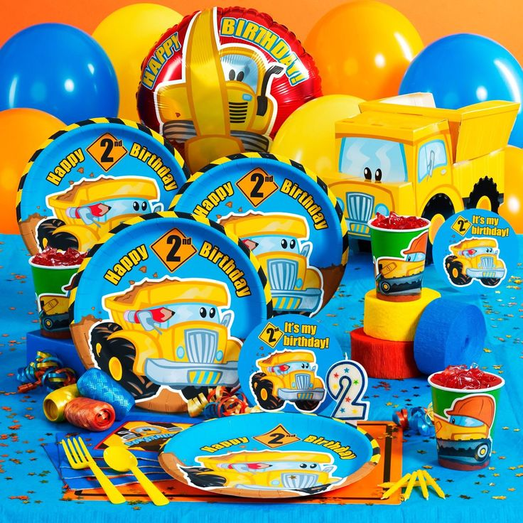 2nd Birthday Construction Party Supplies