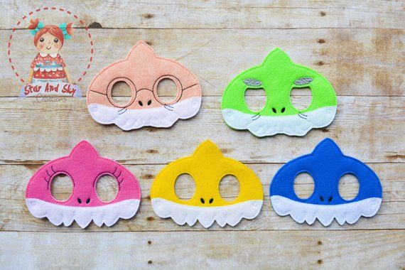 Baby Shark Character Hair Bow with Free Shipping