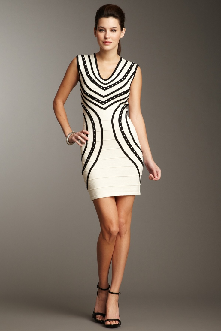 Wow Couture  Stud Bandage Dress