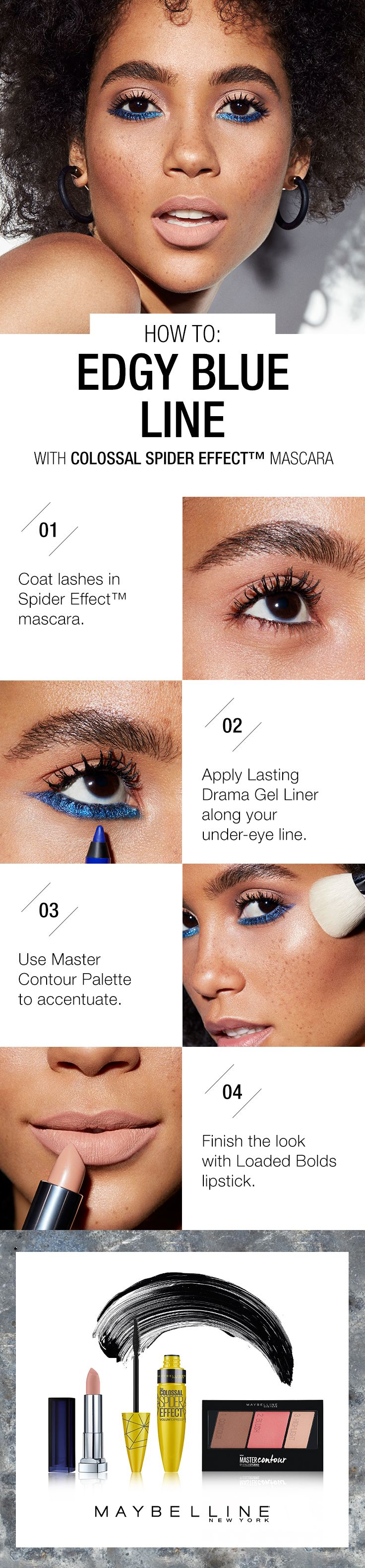 40 best get the look bold looks images on pinterest makeup looking to learn how to wear blue liner amp up the edge with this makeup ccuart Gallery