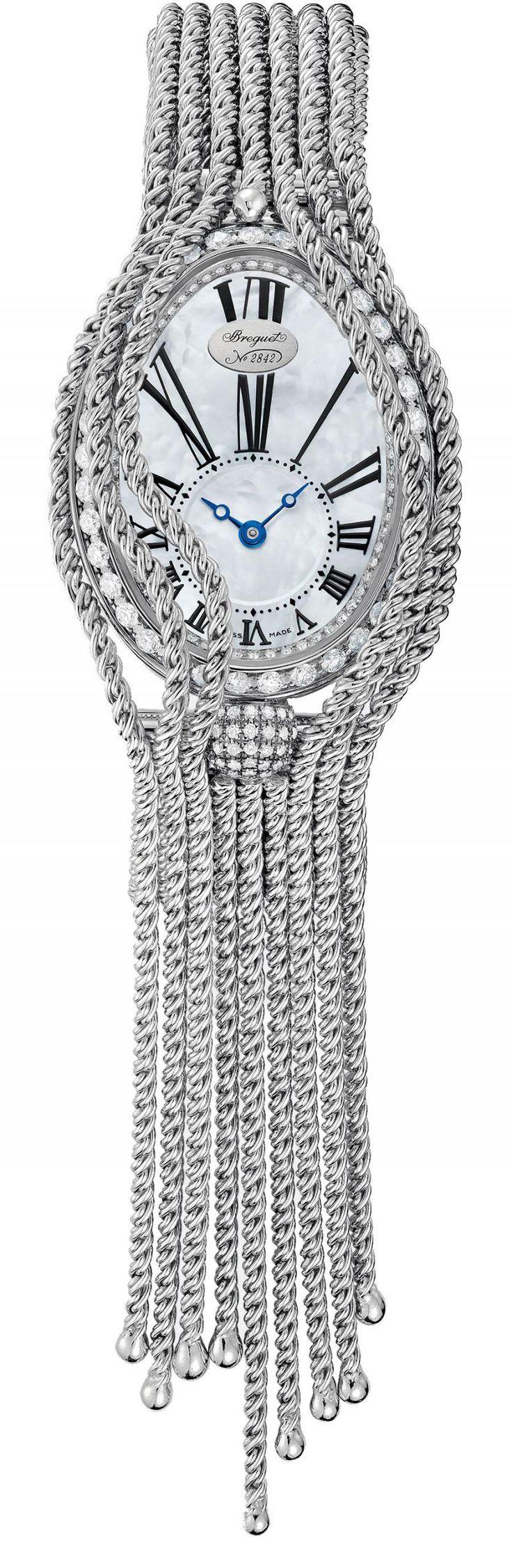 Часы женские Breguet 8928BB/51/J60 DD0D Reine De Naples 8928 - золотые, белые - швейцарские женские наручные часы браслет