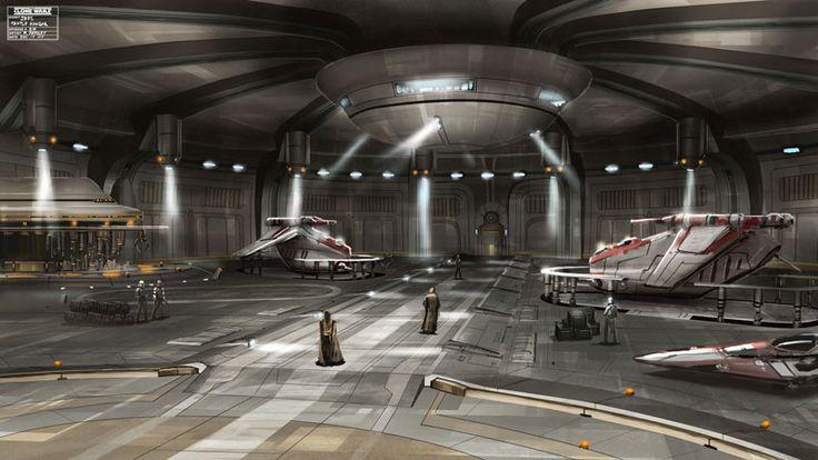 The Republic Hanger Star Wars Concept Art Concept Art