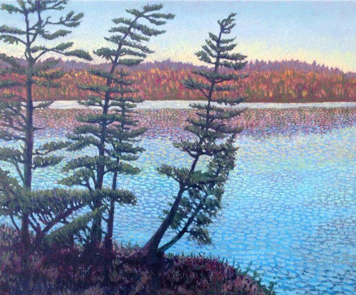 Autumn Shore, Algonquin  Oil 11 x 14 @TTLastSpring @BaleBook @JoanieGentian @Algonquin_PP @muskokalaura @Mark_Sanche