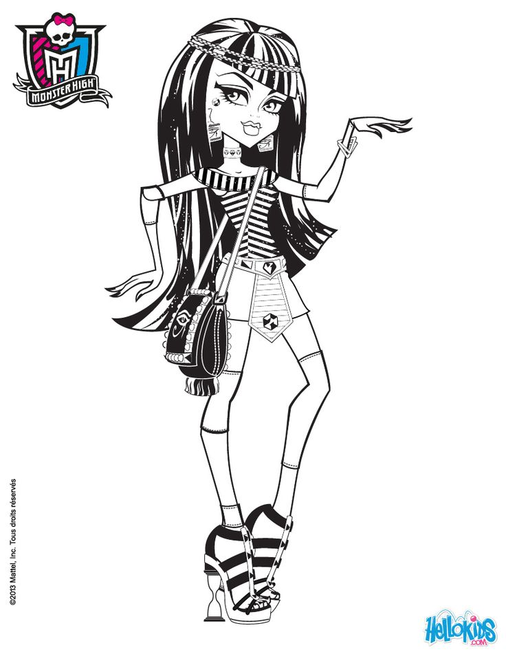 118 best Monster high images on Pinterest  Adult coloring