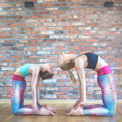 Yoga loft Poznań Mom and daughter together 💕