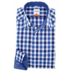 Olymp blauw overhemd