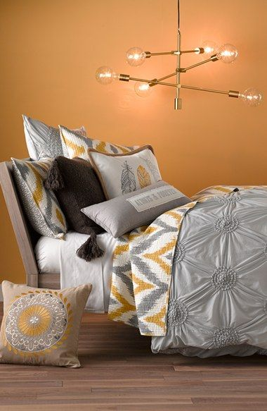 nordtrom at home duvet in grey silk and levtex quilt bedding collection