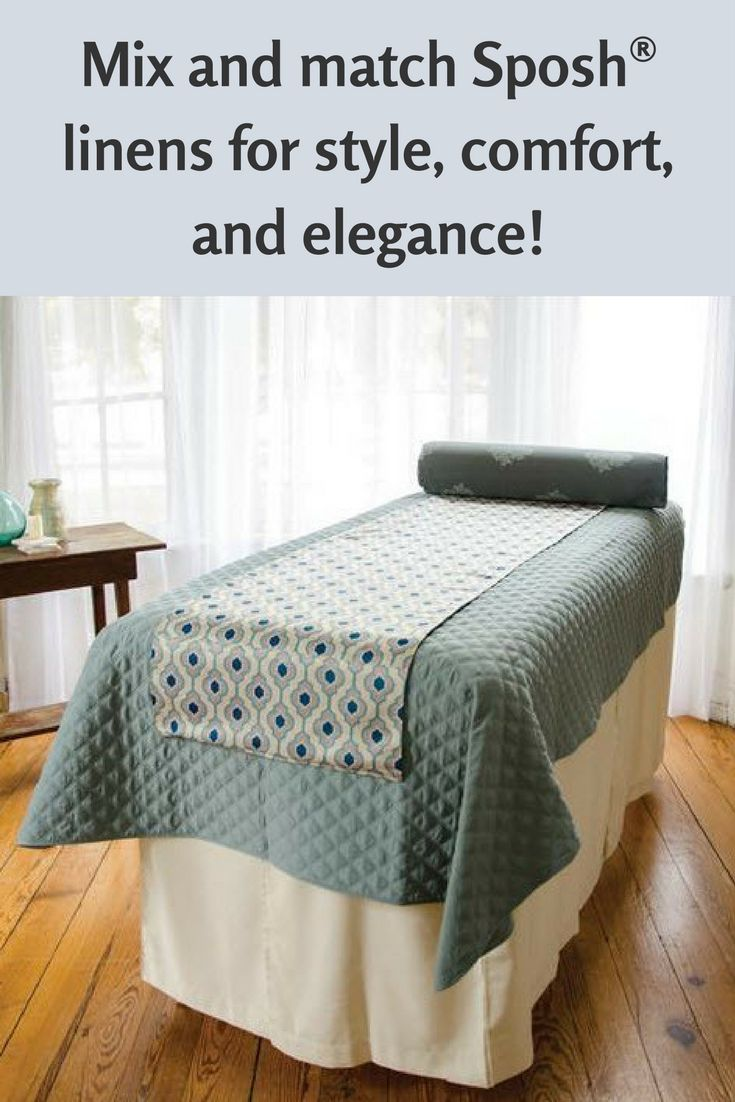 Soft and inviting look for your treatment table!This quilted microfiber blanket is designed to keep your clients warm and cozy. It launders beautifully, using less energy because it requires less water to wash and dries quickly. And this economical blanket is virtually wrinkle-free when you pull it from the dryer. In fact, microfiber is a super fabric—it holds its shape and size, it's easy to maintain, and it's durable.  #TreatmentRoom #Spa #MassageTherapy