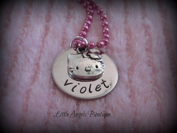 Hello Kitty Personalized Name Custom Hand by littleangelsboutique, $17.00