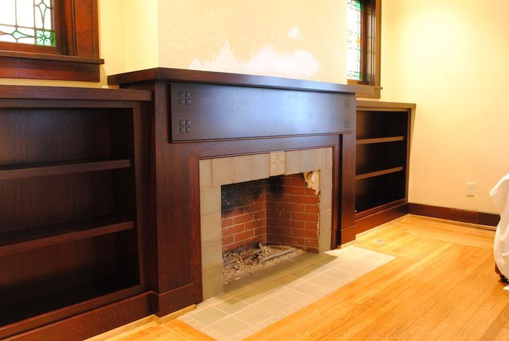 Craftsman Style Mantel Amp Bookcases Thisiscarpentry Built