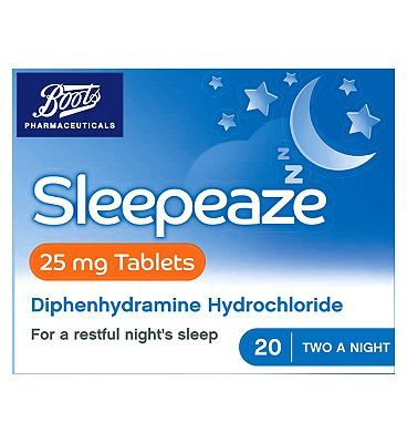 #Boots Pharmaceuticals Boots Sleepeaze Tablets - 25 mg 10075178 #12 Advantage card points. A symptomatic aid to the relief of temporary sleep disturbance. See details below. Always read the label. FREE Delivery on orders over 45 GBP. (Barcode EAN=5000167079340)
