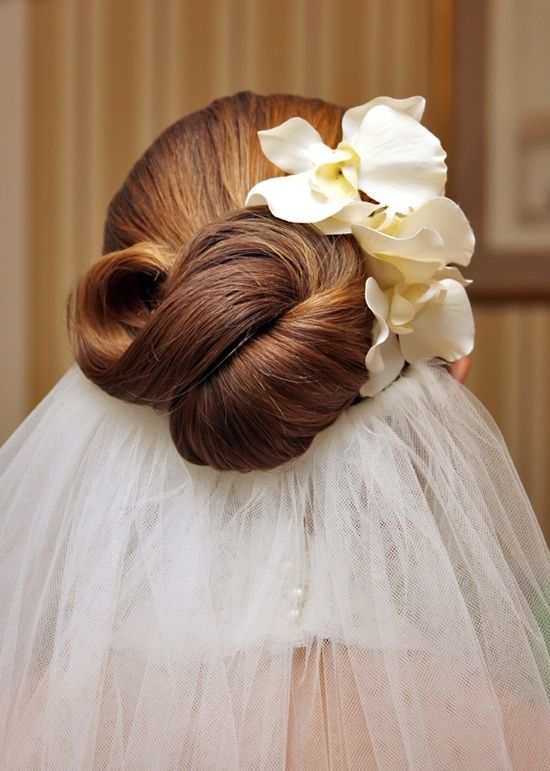 Bride's twisted updo