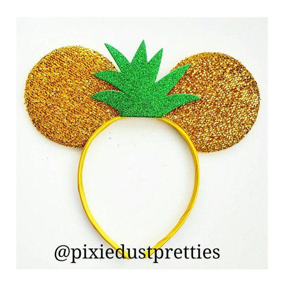 Pineapple Top Mouse Ears pineapple pineapple by PixieDustPrettiess