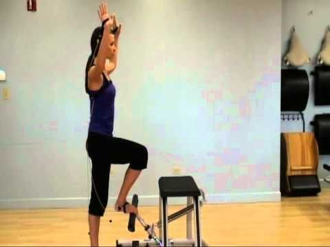 Tye4 on the Pilates Chair - YouTube