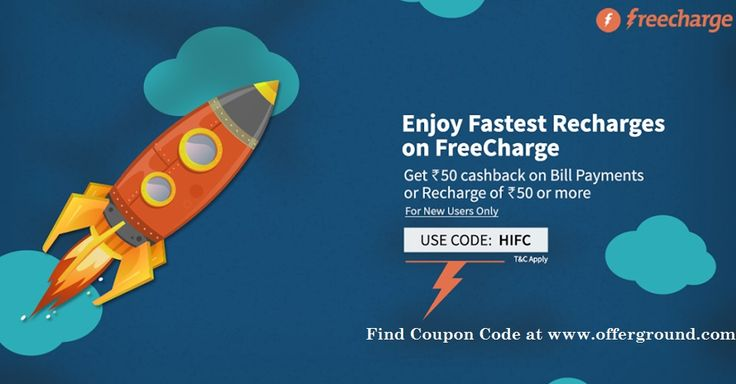 Search latest offers for freecharge to get recharge coupon code? Offerground.com is a reference website provides recharge coupon code for cashback offers. Click here http://offerground.com/offers/electronics/mobiles/recharge/