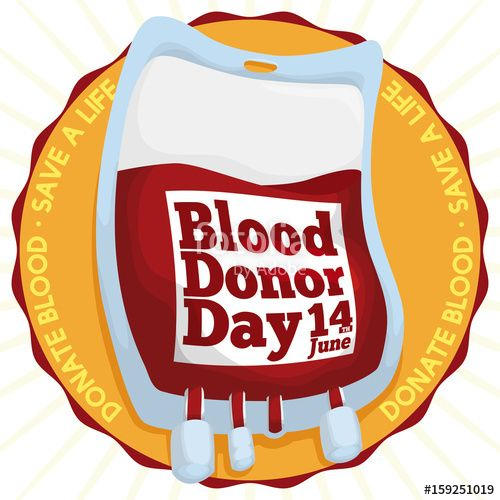 Golden Badge and Blood Bag for World Blood Donor Day