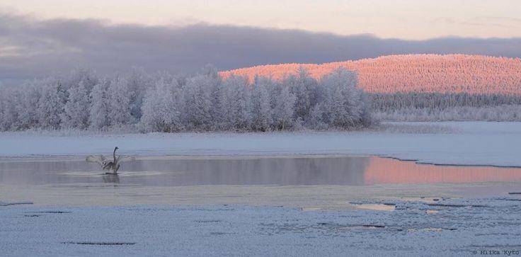 Tällainen tunnelma #Äkäslompolo'n jäällä tänään. #Ylläs #luonto #Lappi