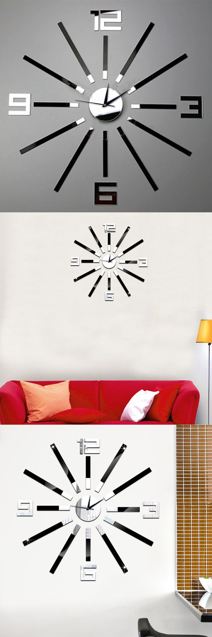 Best 25 mirror wall clock ideas on pinterest unique wall clocks new creative home wall clock in europe and the contracted fashion mute diy mirror wall clock room home decor amipublicfo Choice Image