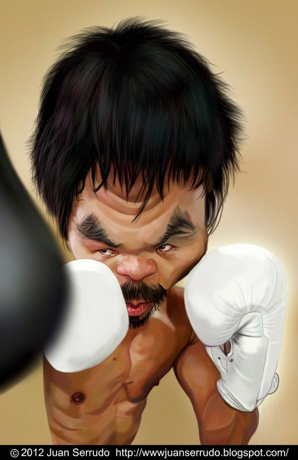 Manny Pacquiao FOLLOW THIS BOARD FOR GREAT CARICATURES OR ANY OF OUR OTHER CARICATURE BOARDS. WE HAVE A FEW SEPERATED BY THINGS LIKE ACTORS, MUSICIANS, POLITICS. SPORTS AND MORE...CHECK 'EM OUT!! Anthony Contorno Sr