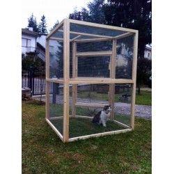 Grande gabbia per gatti da esterno