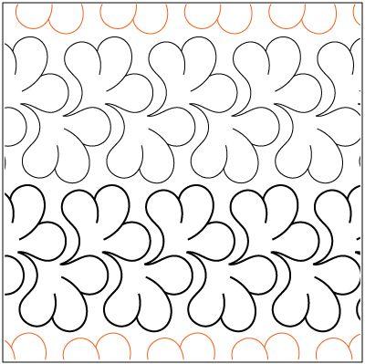 Mountain Laurel Border pantograph pattern by Patricia Ritter of Urban Elementz