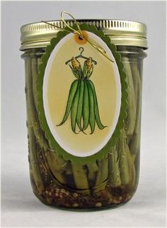 Pickled green beans recipe. Cut out the red pepper flakes and added dried Thai chillies. Also needed 1.5 amount of brine for the wide mouth pickle jars. Total amount made with 4 pounds=12 pints