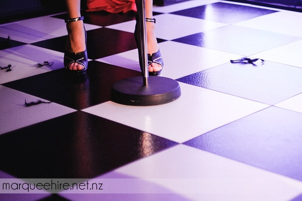 Our checkerboard dancefloor was a big hit at a recent Miss World New Zealand charity event