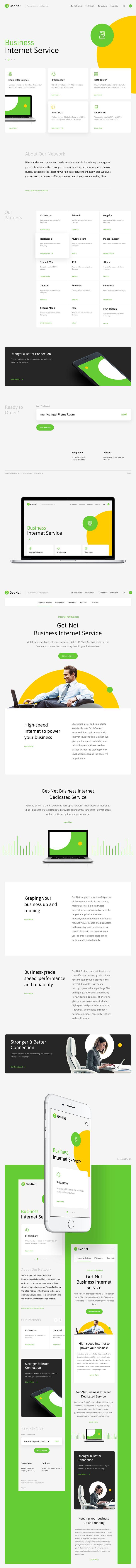 Get - Net | #webdesign #website #inspiration