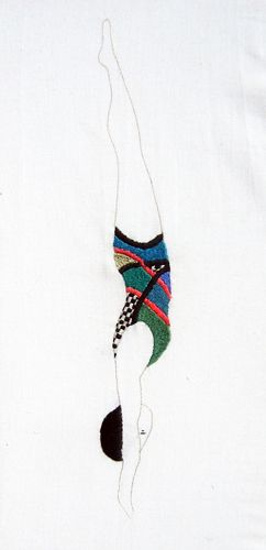 Jazmin Berakha, embroidered diver.