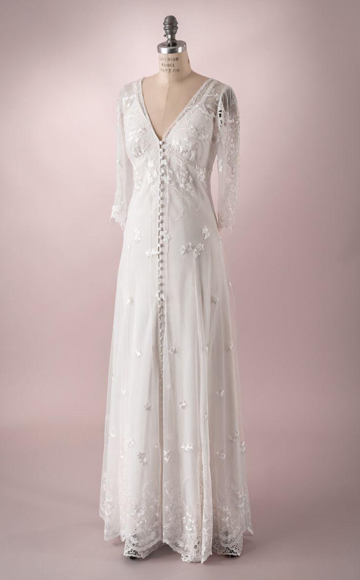 Hazel By Martin Mccrea Wedding Dress Of Embroidered