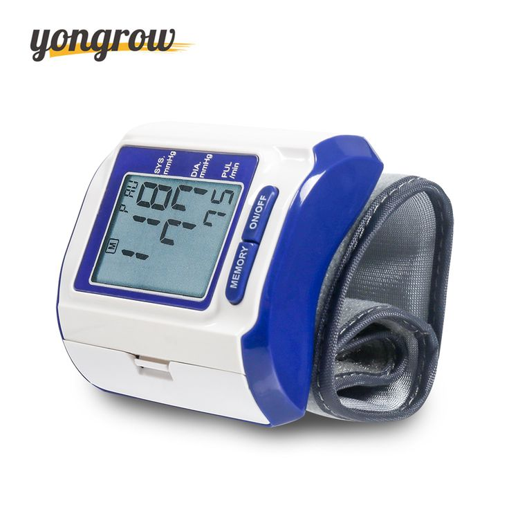 Yongrow Wrist Blood Pressure Monitor Blood Pressure Gauge Tonometer  bp Monitor Blood Pressure Monitor Sphygmomanometer