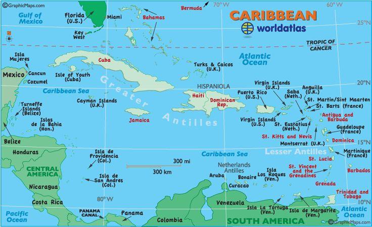 Barbados, St. Maarten, St. Thomas, Aruba, Puerto Rico, Jamaica, Bahamas, Curacao, Martinique