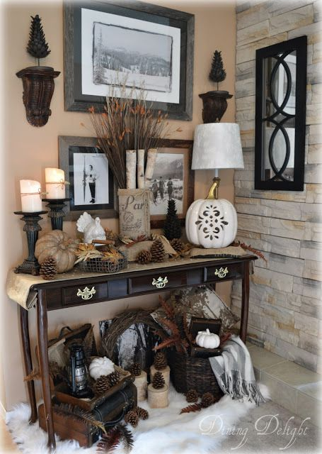 Dining Delight: Lodge Style Fall Display                                                                                                                                                                                 More