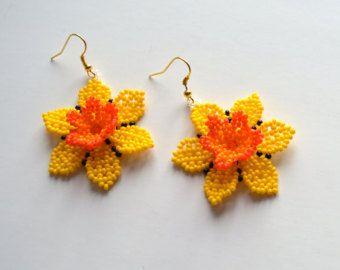 Orecchini di perline orecchini fiore donne dono Beaded