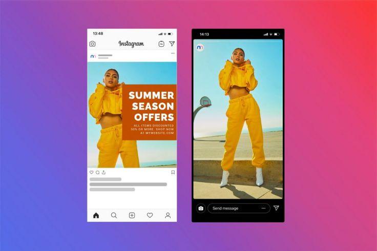 Instagram Story And Post Online Mockup Maker Mediamodifier Service Design Instagram Story Digital Design